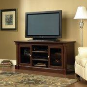 Mainstays 55 Tv Stand With Sliding Glass Doors Black Ebony Ash